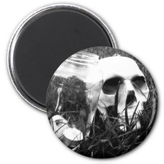 Glass and Bone 2 Inch Round Magnet