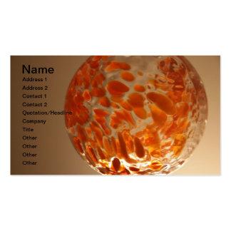 Glass Ball Business Cards