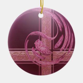 Glass Ball Ceramic Ornament