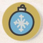 Glass Ball Ornament Coaster