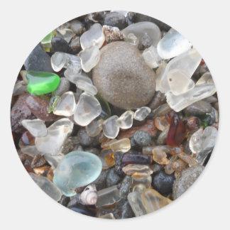 Glass Beach- Fort Bragg, CA Classic Round Sticker