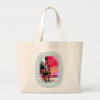 Glass Bead Frame Large Tote Bag