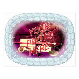 Glass Bead Frame Postcard