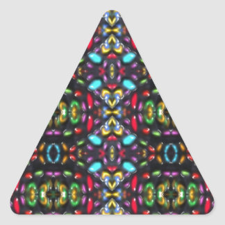 Glass beads of Bred Meli (53). Triangle Sticker