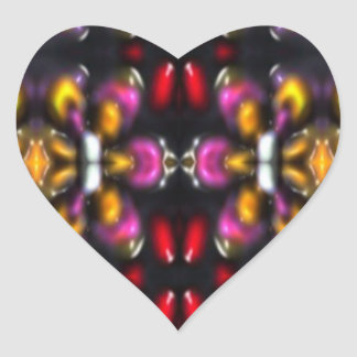 Glass beads of Bred Meli (59) .PNG Heart Sticker
