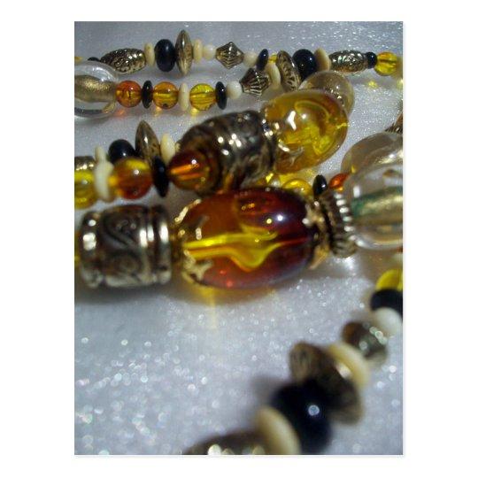 Glass Beads Postcard