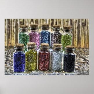 Glass Beads Print
