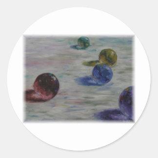 Glass Beeds by David Barlow Classic Round Sticker