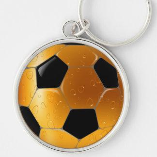 Glass Beer Football Ball Keychain
