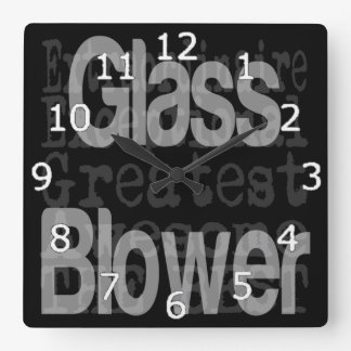 Glass Blower Extraordinaire Square Wall Clock