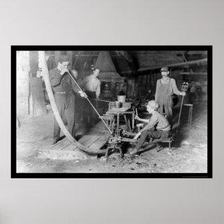 Glass Blower in Grafton WV 1908 Poster