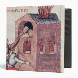 Glass blowers, from 'Tractatus de Herbis' Binder