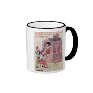 Glass blowers, from 'Tractatus de Herbis' Ringer Coffee Mug