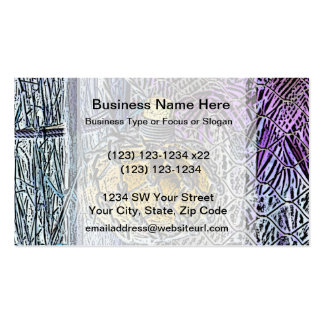 glass bottle purple yellow colored pencil look business cards
