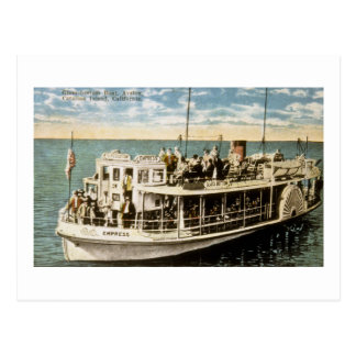 Glass Bottom Boat, Avalon, Catalina Island, CA Postcard