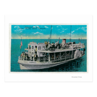 Glass Bottom Boat in Avalon, Catalina Island Postcard
