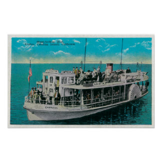Glass Bottom Boat in Avalon, Catalina Island Poster