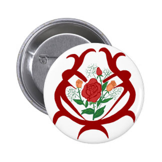 Glass bowl roses button
