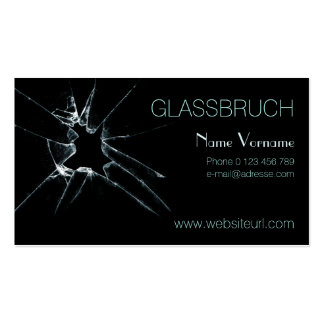 glass break business card