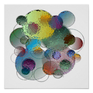 Glass Bubbles (white background) Poster