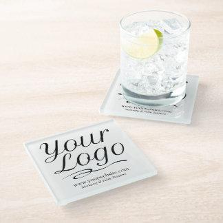 Glass Business Coaster Promotional Company Logo