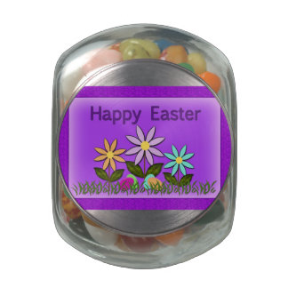 Glass Candy Jar - Easter