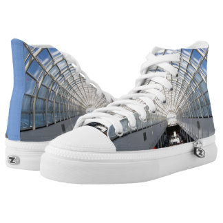 Glass Ceiling Blue Sky Fine Art Photography High-Top Sneakers