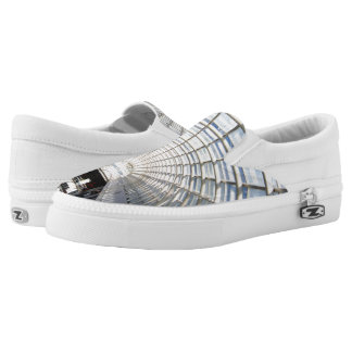 Glass Ceiling Blue Sky Fine Art Photography Slip-On Sneakers
