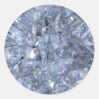 Glass Chards Classic Round Sticker