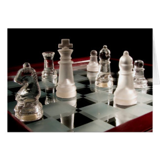 Glass Chess Greeting Card
