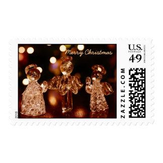 Glass Christmas Angels Postage Stamps