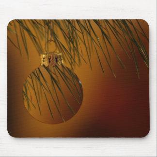 glass christmas ornament mouse pad