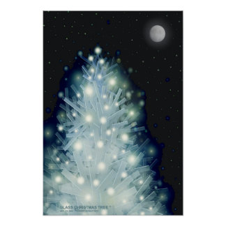 """ GLASS CHRISTMAS TREE "" by: Robert Singletary Poster"