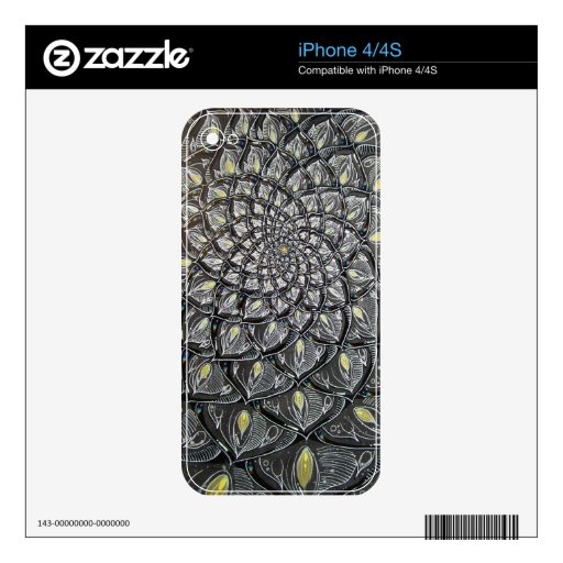Glass Chrysanthemum iPhone 4/4S Skin Decals For The iPhone 4