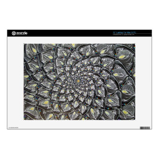 Glass Chrysanthemum Laptop Skin