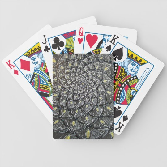 Glass Chrysanthemum Psychedelic Mandala Bicycle Playing Cards