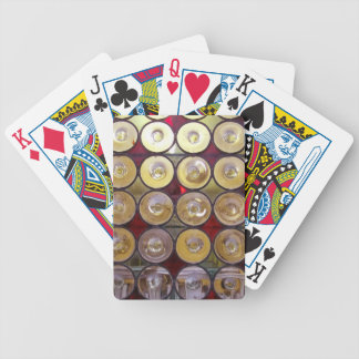 Glass circles palying cards playing cards