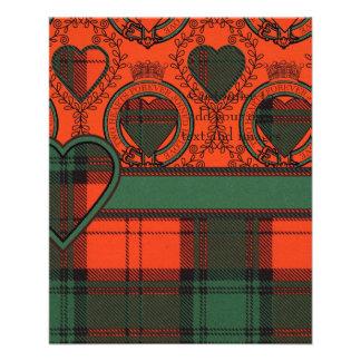 Glass clan Plaid Scottish kilt tartan Flyer