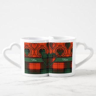 Glass clan Plaid Scottish kilt tartan Lovers Mug Set
