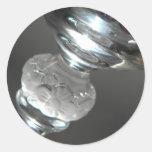 Glass Classic Round Sticker