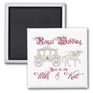 Glass Coach Commemorate the Royal Wedding 2 Inch Square Magnet