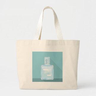 Glass Cologne Bottle Large Tote Bag