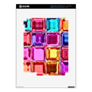 Glass colorful tiles design iPad 3 decal