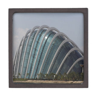 Glass conservatory at Gardens by the Bay Premium Trinket Boxes