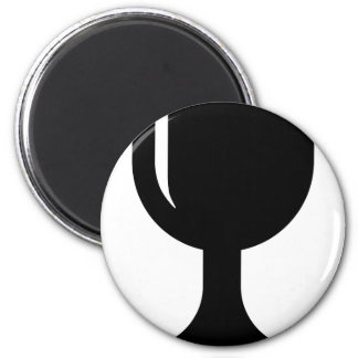 Glass cup 2 inch round magnet