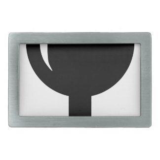 Glass cup belt buckle