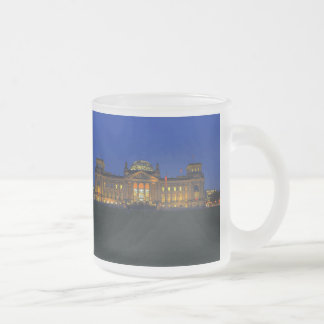 Glass cup Berlin Reichstag in the evening
