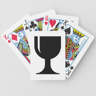 Glass cup bicycle playing cards