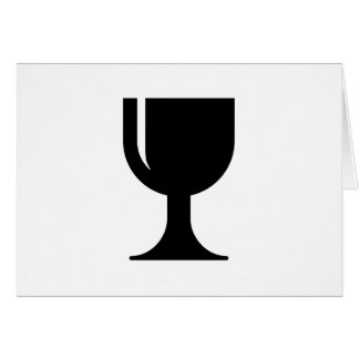 Glass cup card