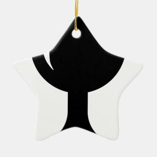 Glass cup ceramic ornament